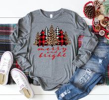 Long Sleeve Merry and Bright Christmas Tees