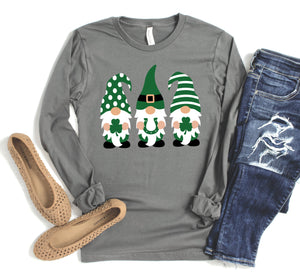 Long Sleeve St. Patrick's Day Gnomes