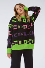 LOGOMANIA CREW NECK NEON SWEATER