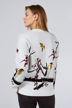 SEQUINED PULLOVER WITH BIRD