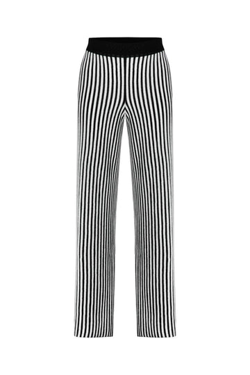 BLACK&WHITE LUREX PANTS