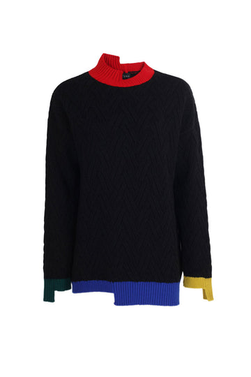 CUTOUT MERINO KNITWEAR SWEATER