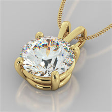 "Load image into Gallery viewer, Round Cut Solitaire Pendant With 16"" Diamond Cut Cable Chain"