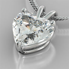 "Load image into Gallery viewer, Heart Cut Solitaire Pendant With 16"" Diamond Cut Cable Chain"