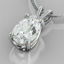 "Load image into Gallery viewer, Pear Cut Solitaire Pendant With 16"" Diamond Cut Cable Chain"