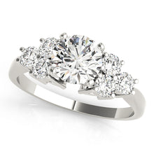 Load image into Gallery viewer, Round Cut Cathedral Style Engagement Ring with Brilliant Accents