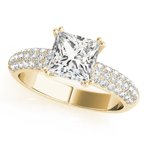 Princess Cut Engagement Ring with Accents