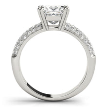 Load image into Gallery viewer, Princess Cut Engagement Ring with Accents