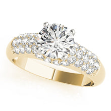 Load image into Gallery viewer, Round Cut Solitaire with Contoured Pave Accents