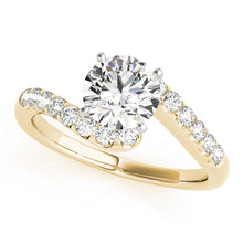 Load image into Gallery viewer, Round Cut Engagement Ring with Scallop Style Accents