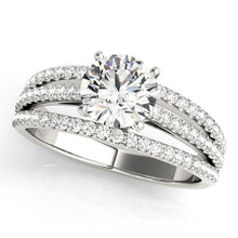 Load image into Gallery viewer, Triple Row Pave Engagement Ring