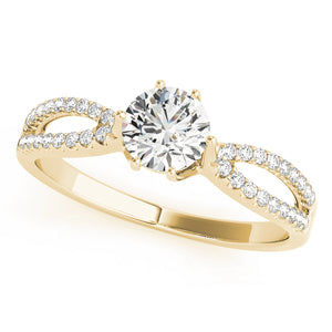 Classic Round Cut Engagement Ring with Split Shank