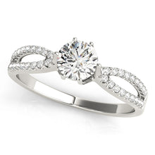 Load image into Gallery viewer, Classic Round Cut Engagement Ring with Split Shank
