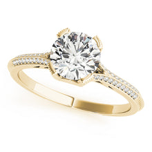 Load image into Gallery viewer, Accented Engagement Ring with Infinity Setting