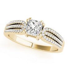 Load image into Gallery viewer, Triple Split Shank Princess Cut Engagement Ring