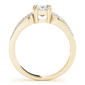 Triple Split Shank Princess Cut Engagement Ring