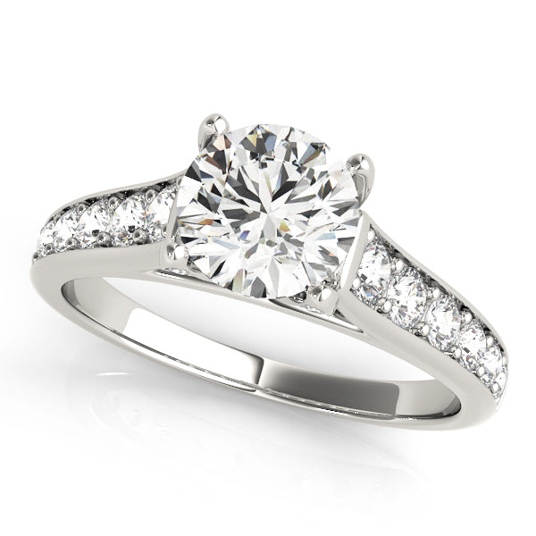 Glamorous Engagement Ring with Channel Set Accents