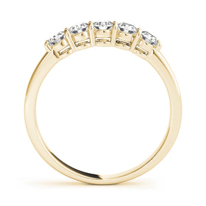Glamorous Round Cut Five Stone Engagement Ring