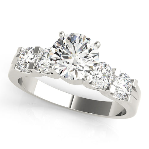 Stunning Round Cut Five Stone Engagement Ring