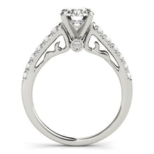 Load image into Gallery viewer, Glamorous Engagement Ring with Peekaboo Accent