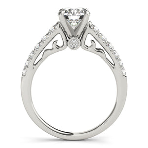Glamorous Engagement Ring with Peekaboo Accent