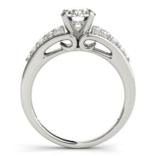 Load image into Gallery viewer, Sparkling Round Cut Engagement Ring with Petite Accents