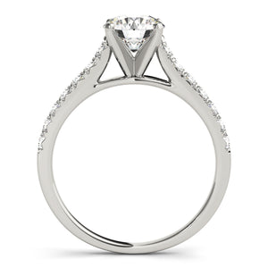 Cathedral Style Round Cut Solitaire with Accents