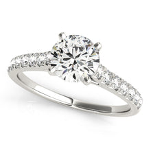 Load image into Gallery viewer, Cathedral Style Round Cut Solitaire with Accents