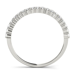 Round Cut Bezel Set Ring with Accent Stones