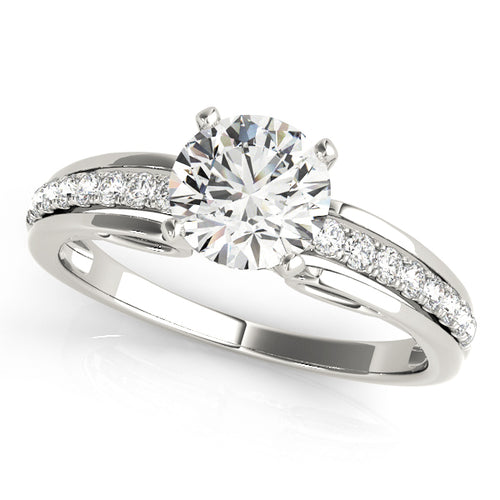 Classic Solitaire with Channel Set Accents