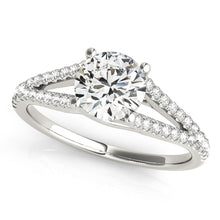 Load image into Gallery viewer, Round Cut Solitaire with Split Shank and Accented Undercarriage