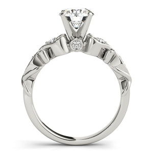 Round Cut Solitaire Engagement Ring with Decorative Filigree