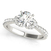 Load image into Gallery viewer, Round Cut Engagement Ring with Twin Accents