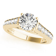 Load image into Gallery viewer, Embellished Round Cut Engagement Ring with Channel Set Accents