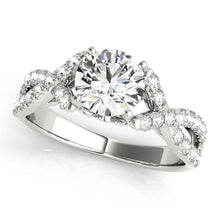 Load image into Gallery viewer, Round Cut Engagement Ring with Infinity Design and Filigree Accents