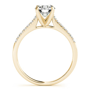 Elegant Round Cut Solitaire Engagement Ring with Accents
