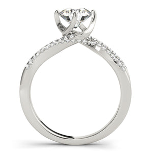 Round Cut Engagement Ring with Double Pave Accents