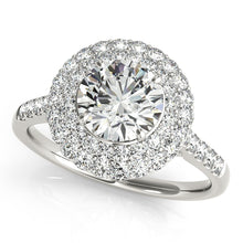 Load image into Gallery viewer, Double Halo Round Cut Engagement Ring