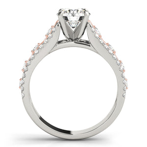 Intricate Two Tone Engagement Ring with Infinity Accents