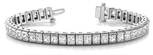 Princess Cut Tension Setting Tennis Bracelet