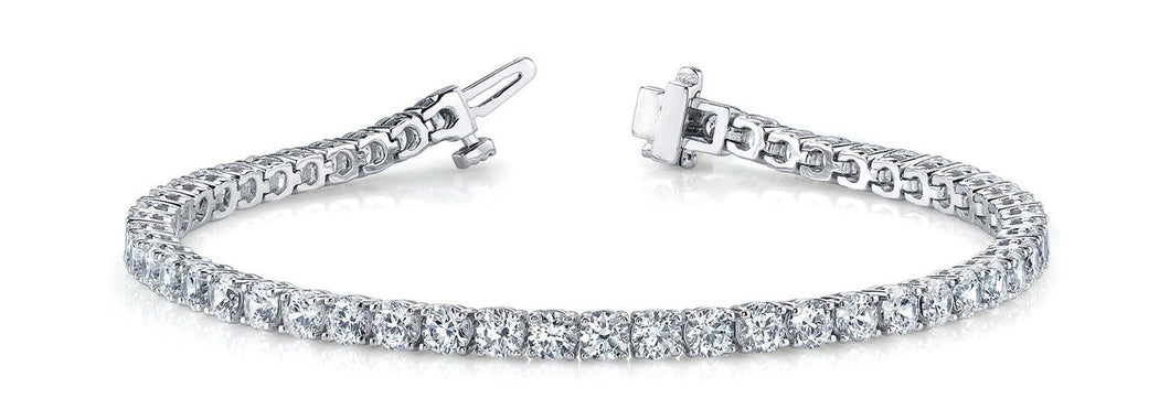 Round Cut Traditional 4-Prong Tennis Bracelet