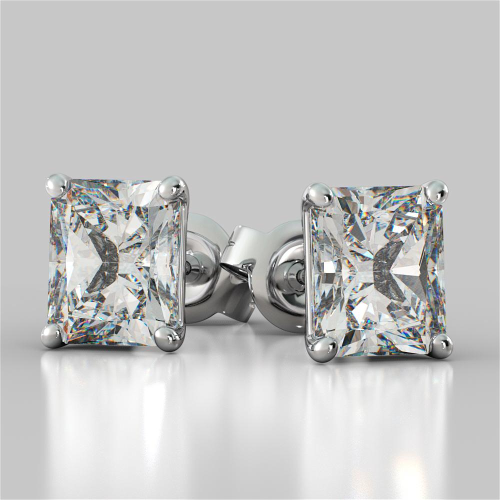 Radiant Cut Stud Earrings