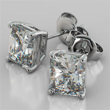 Load image into Gallery viewer, 1.0CT Radiant Cut Stud Earrings in 14K White Gold