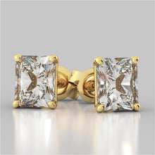Load image into Gallery viewer, Radiant Cut Stud Earrings