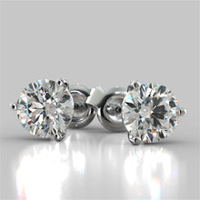 Load image into Gallery viewer, Martini Style Round Cut Stud Earrings