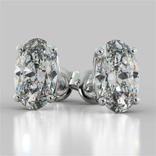 Load image into Gallery viewer, Oval Cut Stud Earrings