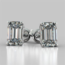 Load image into Gallery viewer, Emerald Cut Stud Earrings