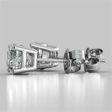 Load image into Gallery viewer, Cushion Cut Stud Earrings
