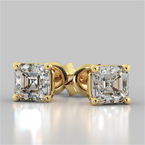 Asscher Cut Stud Earrings