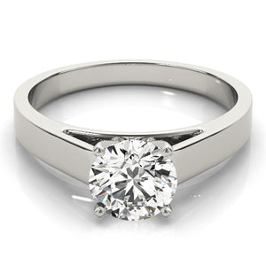 Classic Cathedral Style Solitaire Engagement Ring